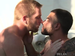 studs Gay studs Scott Riley and Vadim Black kiss and anal fuck gay