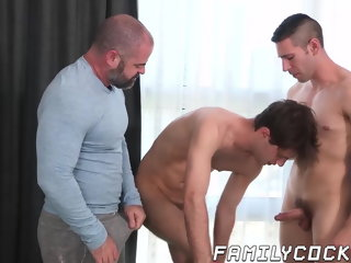 stepdad Hunky stepdad barebacks his two young stepsons with raw cock hunky