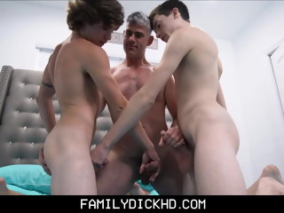 twink Stepdad And Twink Stepson Threesome With Young Neighbor Boy stepdad