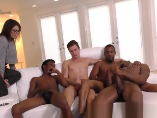 guy Black guy spunks twink black